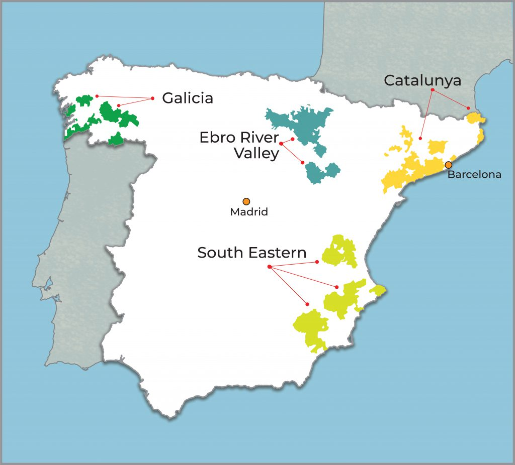 Map Of Spain Vineyards.Spain Hand Picked Selections